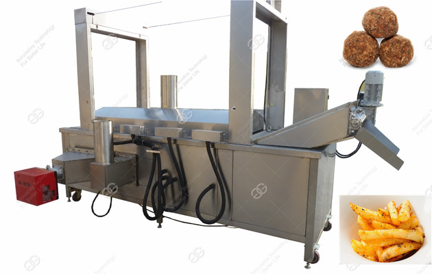 Gas Heating Vegetable Croquette Frying Machine